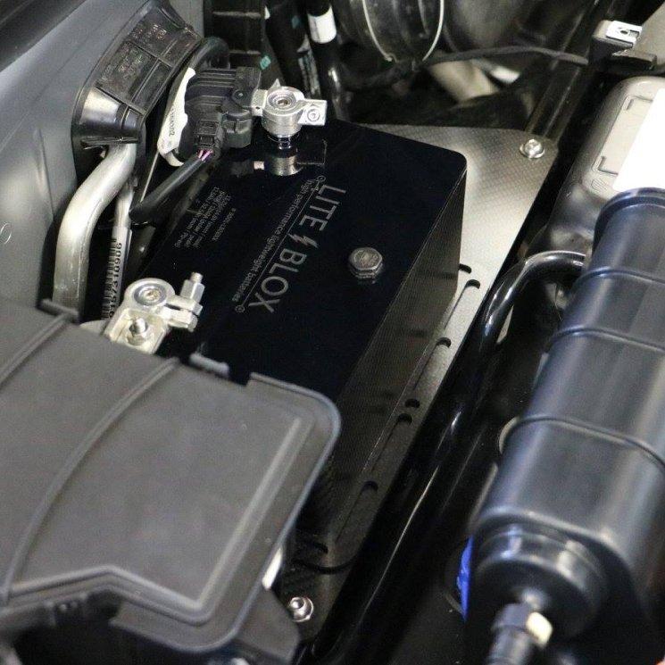 LITEBLOX lightweight battery bracket adapter CFK