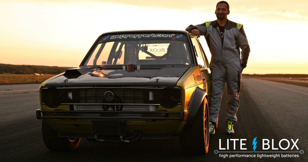VW Golf powered by LITE↯BLOX at 10K Cash-Day