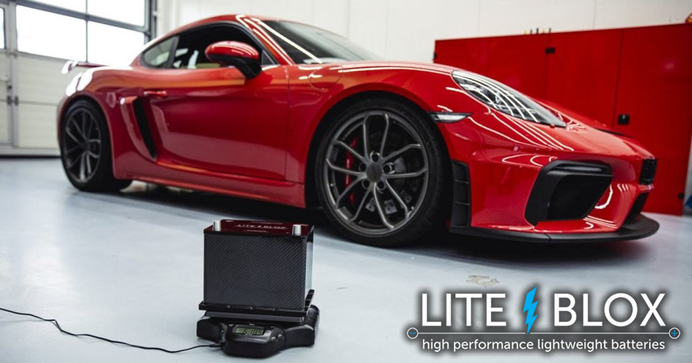 Weight saving by battery replacement in the 718 GT4